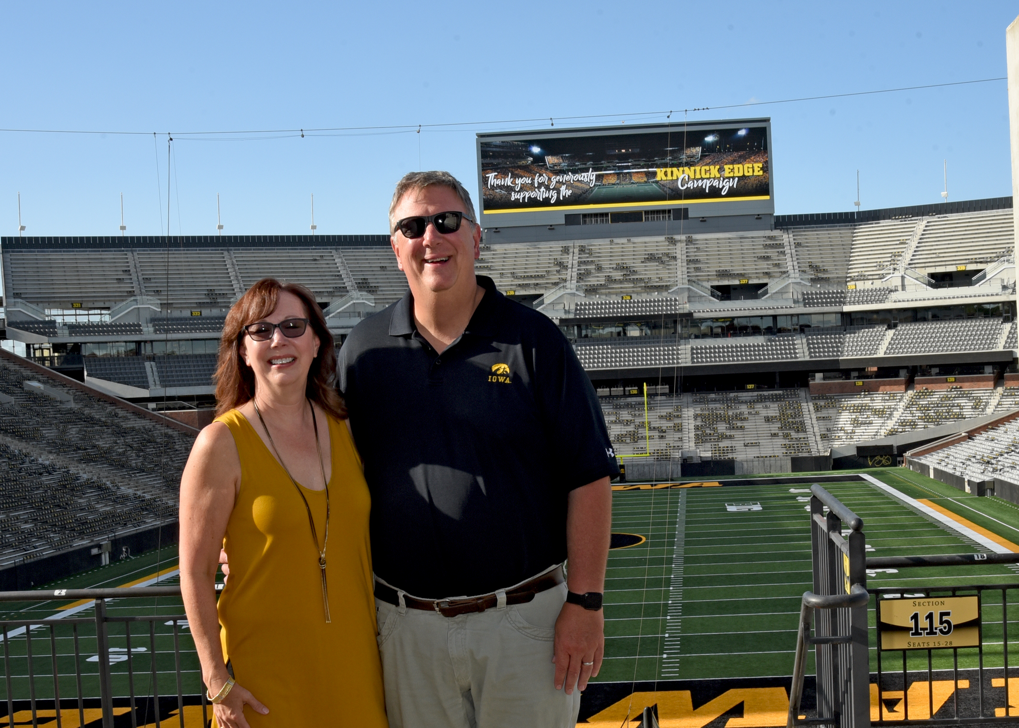 Picture of Will and Renee Moon at Kinnick